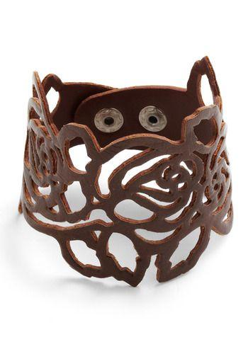 : Cuffs Bracelets, Rose Bracelets, Cut Leather, Diy Bracelets, Leather Cuffs, Cut Outs, Corsage Bracelets, Leather Rose, Leather Bracelets