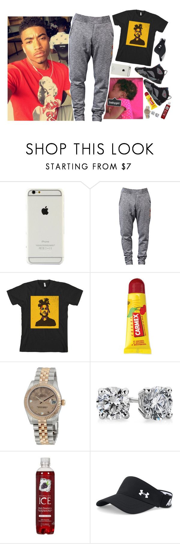 """O7 ) "" i got my glizzy on my hip , just in case a p.ussy n.igga try to hit a lick ."""" by let-the-beast-be-unleashed ❤ liked on Polyvore featuring Vivienne Westwood, Retrò, Carmex, Rolex, Blue Nile, Under Armour, men's fashion, menswear and daddylorenz"