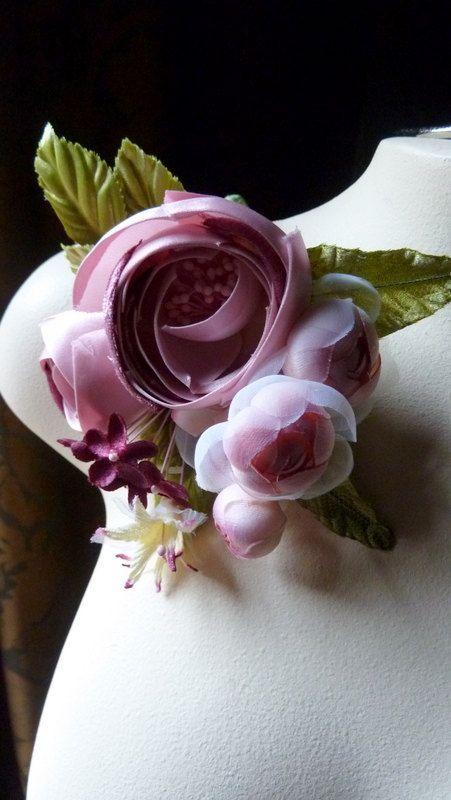 Silk Rose Corsage