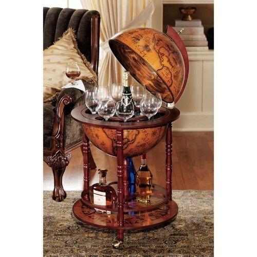 Toscano 16th-Century Italian Replica Globe Bar