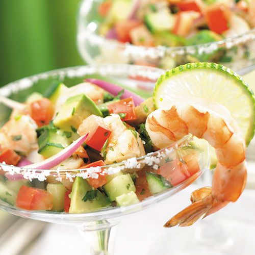 Ceviche (seh-VEE-cheh) is a Latin American appetizer in which raw fish is
