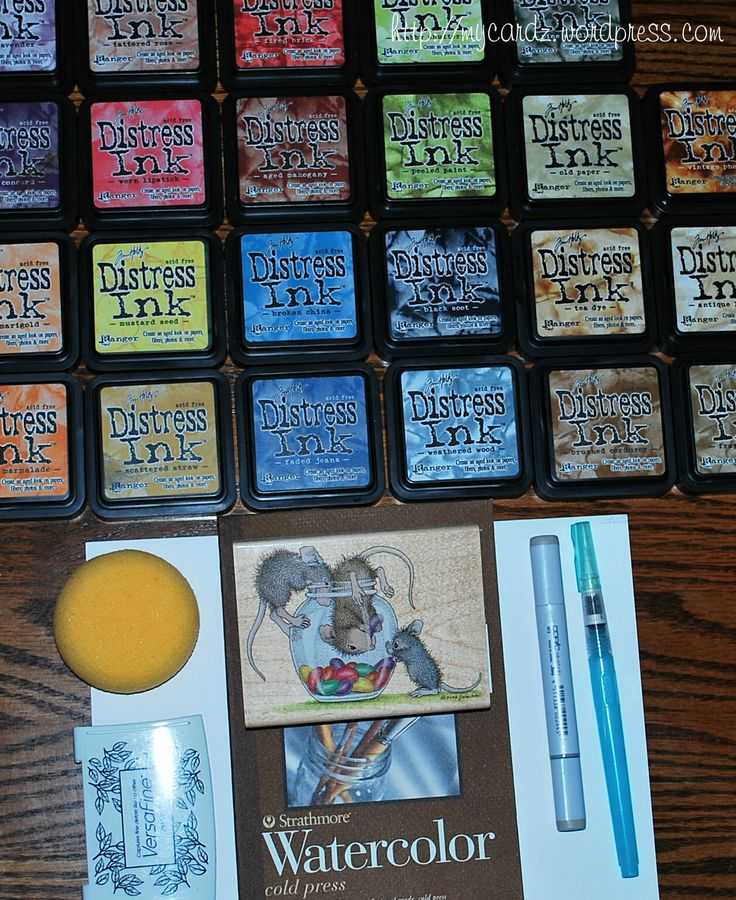 Great ideas using Tim Holtz's Distressed Inks from Ranger Rick!   Distress Ink Coloring Tutorial   @My Cardz - My Passion