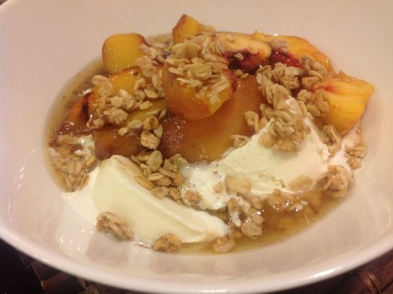 Bobby Flays Grilled Peach Cobbler A La Mode Recipe - Genius Kitchen
