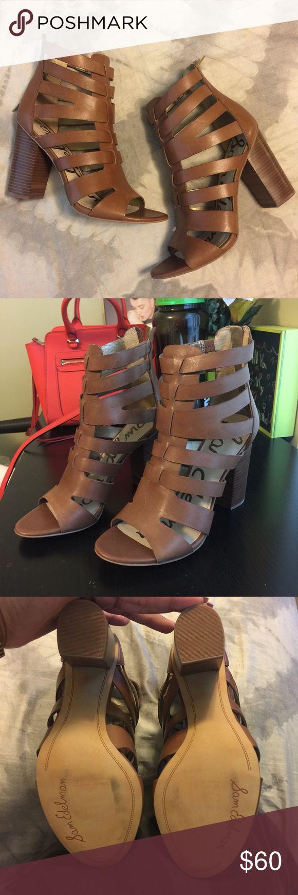 Sam Edelman Heels Sam Edelman caged heels. Size 9.5. Zipper back. Never worn Sam Edelman Shoes Heels