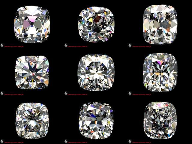 Like all cushion cuts but 3&6 (rectangle) antique cushion cut diamond | Cushion Cut Diamond Comparison on Vimeo