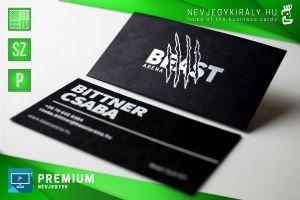 Premium névjegykártya szitanyomással és prégeléssel