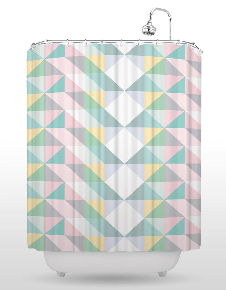 Jazz Tartan Shower Curtain Button HoleStand UpShower