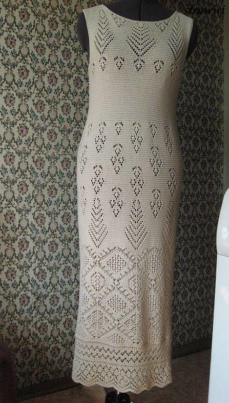 Моё))) Платье спицами по шетландским мотивам от Жаннетты