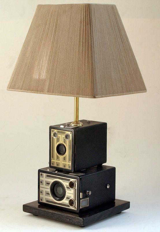 Vintage+Kodak+Brownie+Camera+Table+Lamp+by+leeannsvintagedecor,+$179.00