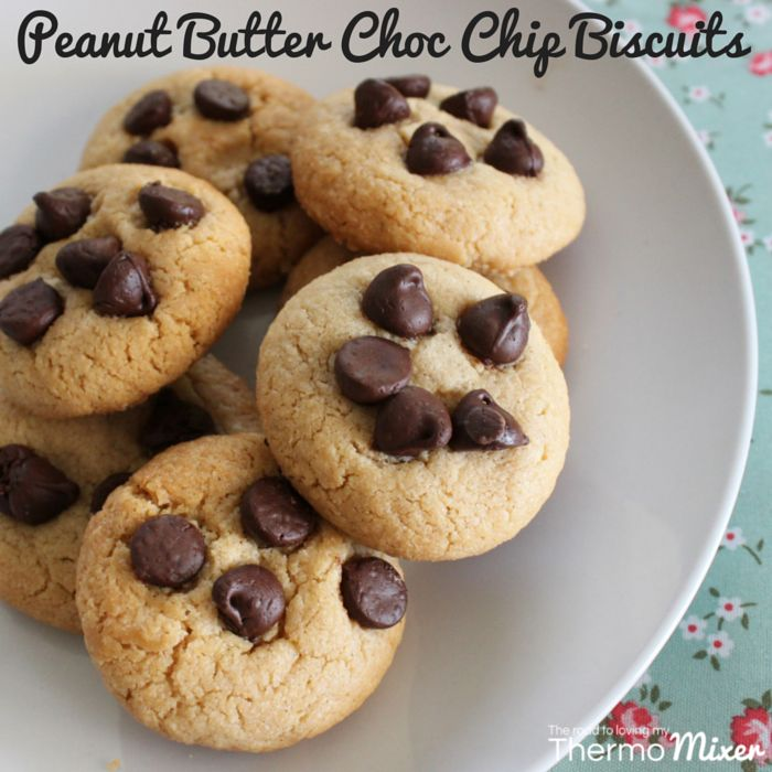 Peanut butter biscuits have always been popular. I remember having these as a kid in my lunchbox. I have to admit I don't make them as much as I used t