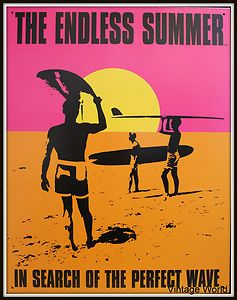 """Endless Summer Movie Holding Surfboard Decorative Wall Sign 31x41 Cms (12""""x16"""") 