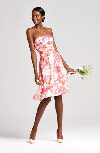 Donna Morgan Print Chiffon Fit & Flare Dress