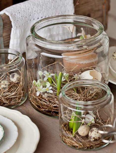 Garten Deko – Große Einmachgläser finden derzeit immer wieder Verwendung als dekorative Verp