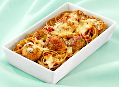 Try this recipe from Catelli® Healthy Harvest®. You're bound to enjoy the taste of Turkey Vegetable Meatballs with Whole Wheat Linguine! #healthyharvest #nutrition #recipe