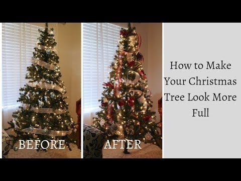 How To Decorate A Christmas Tree To Look More Full Youtube Christmas Tree Full Christmas Tree How To Make Christmas Tree