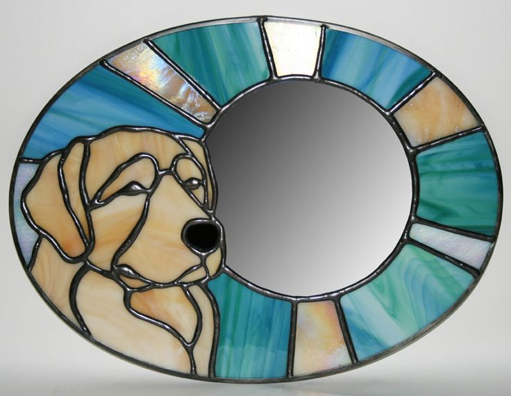 Golden Retriever Stained Glass Trophies | Mungo Works