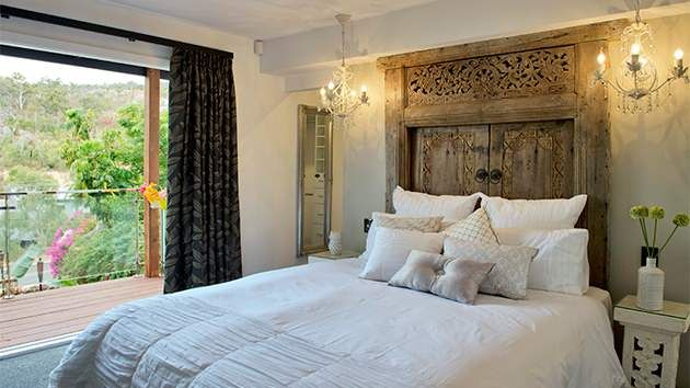 Carole And Russell 39 S Master Bedroom Makeover From House Rules 2014 Love The Balinese Doors Bed