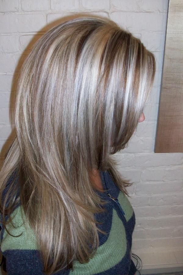 highlights and lowlights! How I think I am going to get my hair colored!: Gray Hair, Hair Colors, Platinum Highlights, Blonde Highlights, Hair Style, Wigs, Low Lights, Dark Blondes Highlights, Grayhair