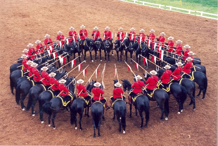 The RCMP Musical Ride - what great ambassadors.