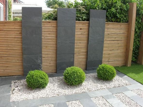 Stunning Privacy Fence Line Landscaping Ideas 1 Modern Garden Design Modern Garden Landscaping Modern Garden