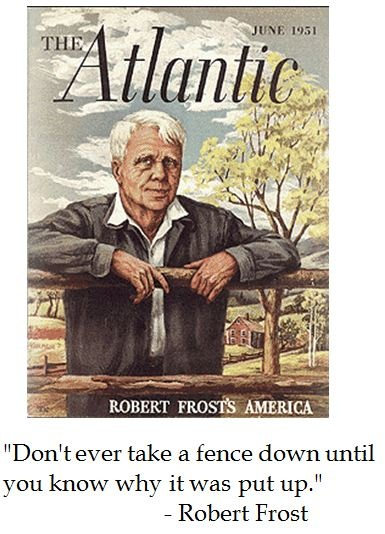 Robert Frost reflects on fences #quotes