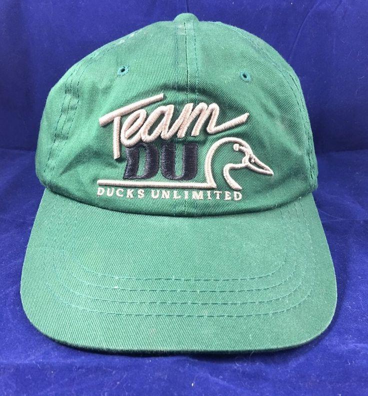 Team DU Ducks Unlimited Volunteer Green Cap Raised Embroidery Adult  | eBay