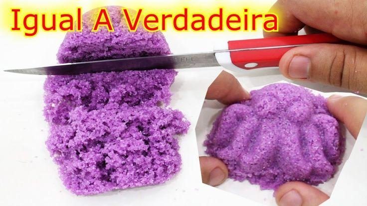Como Fazer Areia Cinetica-Caseira Areia Magica Facil kinetic sand Divertida