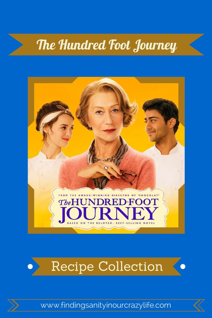 The Hundred Foot Journey Recipes Collection #100FootJourney  - Finding Sanity in Our Crazy Life