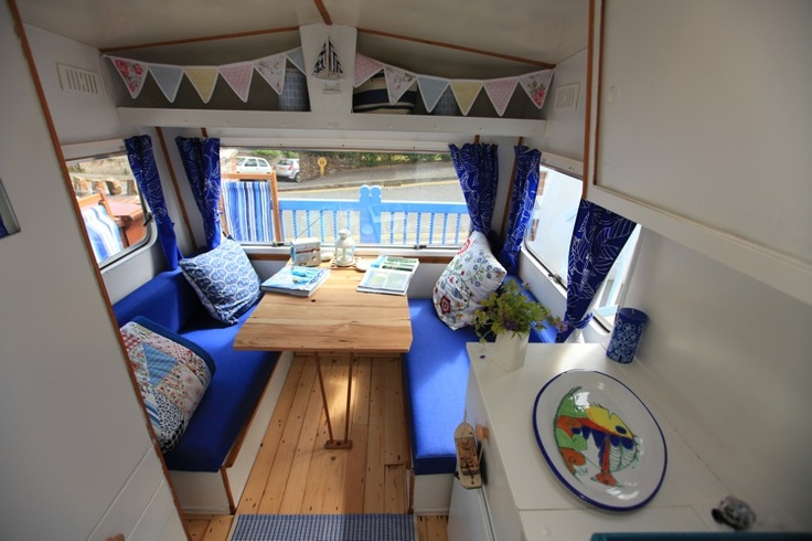 Beach hut vintage caravan breathing life back into for Beach hut interior ideas