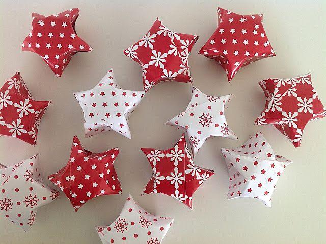 Bellas bedrifter: Buttede origami-julestjerner...
