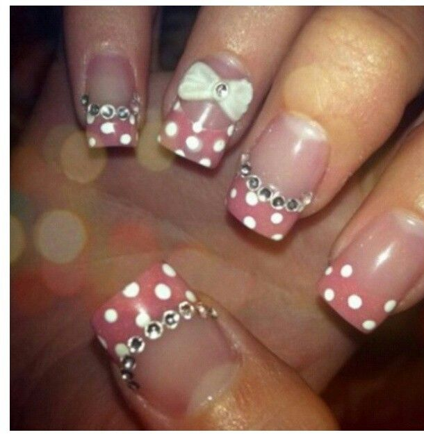 Bow Nail Design Nails Addicts Pinterest Art And Designs