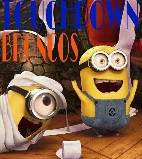Bronco Minions: Fav Movie, Minionsbest Movie, Minions Minions, Minions Mania, Minions Dominion, Broncos Minions, Toilets Paper, Funny Stuff, Minions Wraps