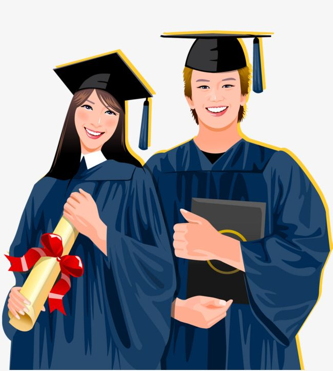 Hand Drawn Graduation Wear Bachelor S Clothing Student Vector College Student Graduation Cartoon Png Transparent Clipart Image And Psd File For Free Download How To Draw Hands Graduation Drawing Graduation Images