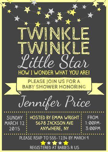 twinkle twinkle little star baby shower invitation wording google search