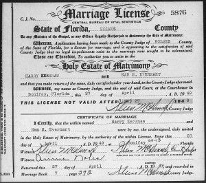 Florida Marriage Records| The records include licenses, marriage applications, marriage certificates, and marriage packets. The records are arranged by county, date, and record type. Because the marriage records were handled by each individual county, the information can vary. #marriagerecords #Florida