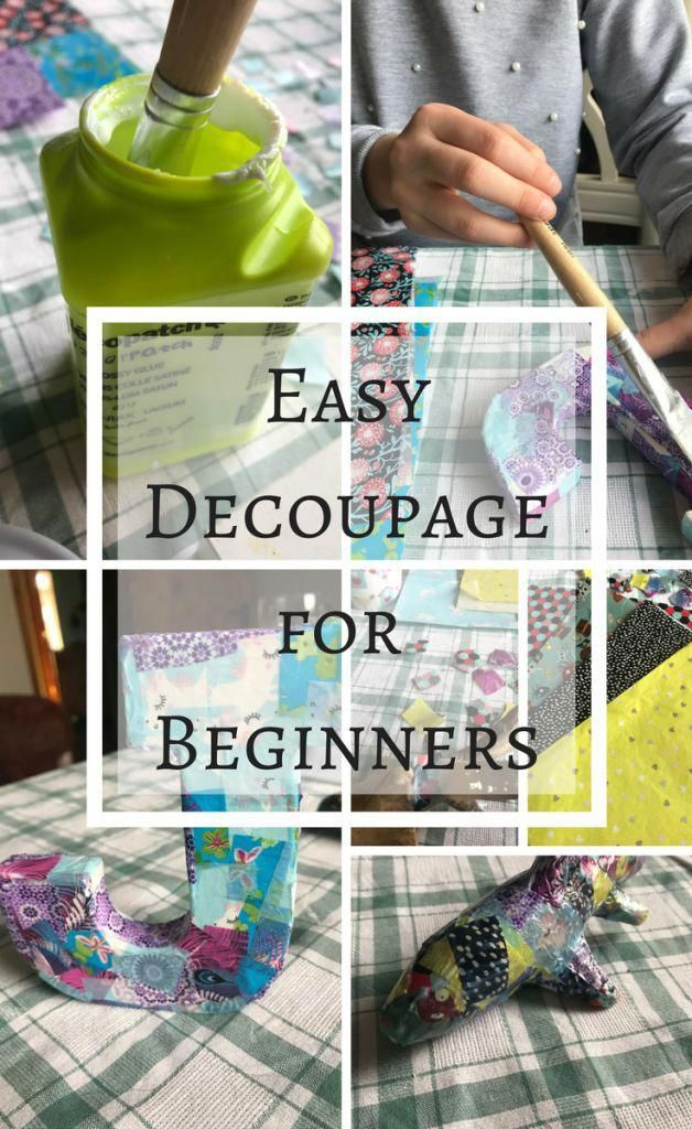 Simple Decoupage Project For Beginners Simple Arts And Crafts