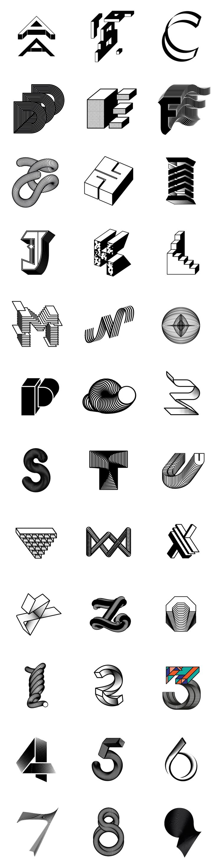 36 Days of Type #02 / Experiments on Behance