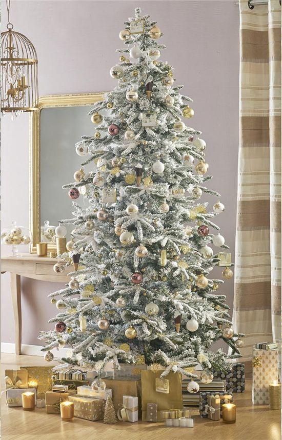 sapin blanc et or les plus beaux sapins de no l cadeau. Black Bedroom Furniture Sets. Home Design Ideas