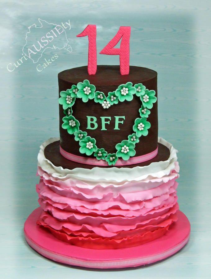 Best friends 14th birthday cake