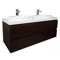 Sonoma Wall Hung Vanity 1200mm - Dark Woodgrain