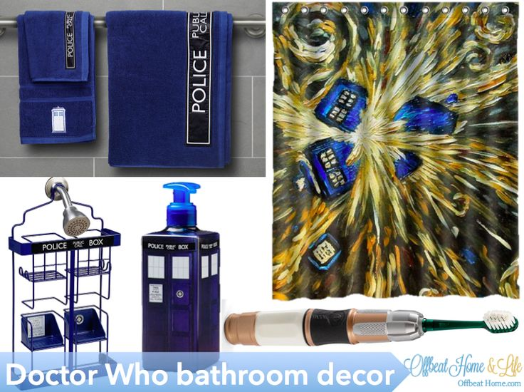 the coolest whovian bathroom decor in all of time and space - Dr Who Bedroom Ideas