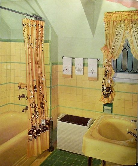 Mid Century Bathroom Bing Images Vintage Bathrooms