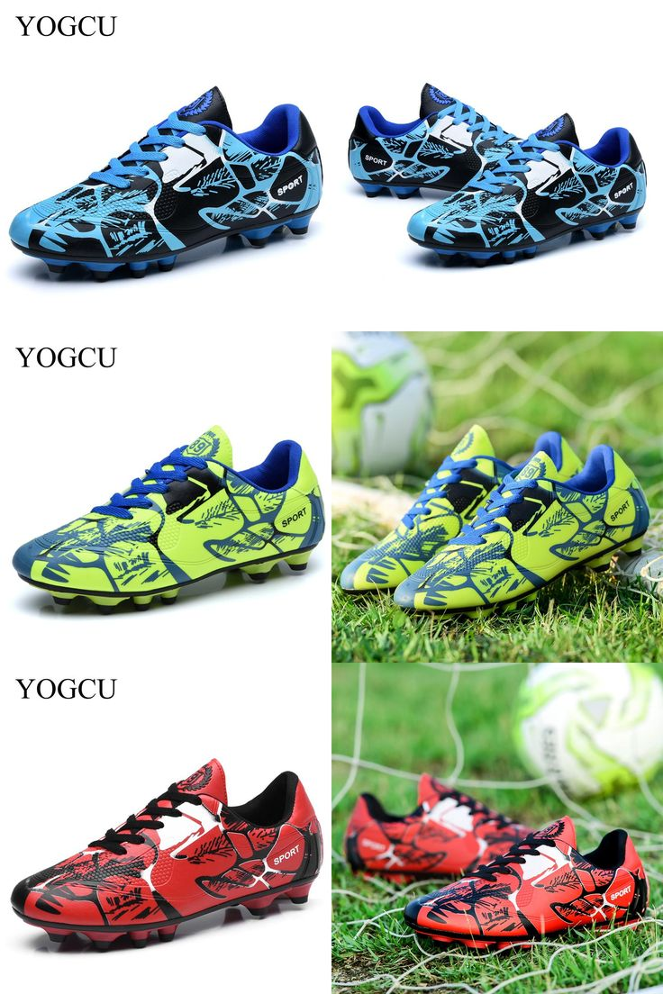 [Visit to Buy] YOGCU Soccer Shoes Football Sports Kids Men Soccer Cleats Tenis Feminino Esportivo Superfly Sneakers For Boys Football Shoes #Advertisement