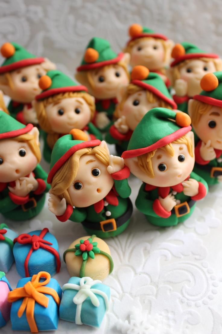 Elves Fondant Cupcake Toppers by mimicafe Union http://mimicafeunion.blogspot.com