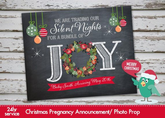 Christmas Pregnancy Announcement Christmas Pregnancy Photo Prop Chalkboard Announcement Xmas Pregnancy
