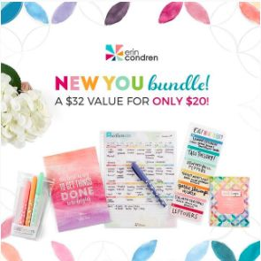 Erin Condren - Coupon code + New Year planning promotion!