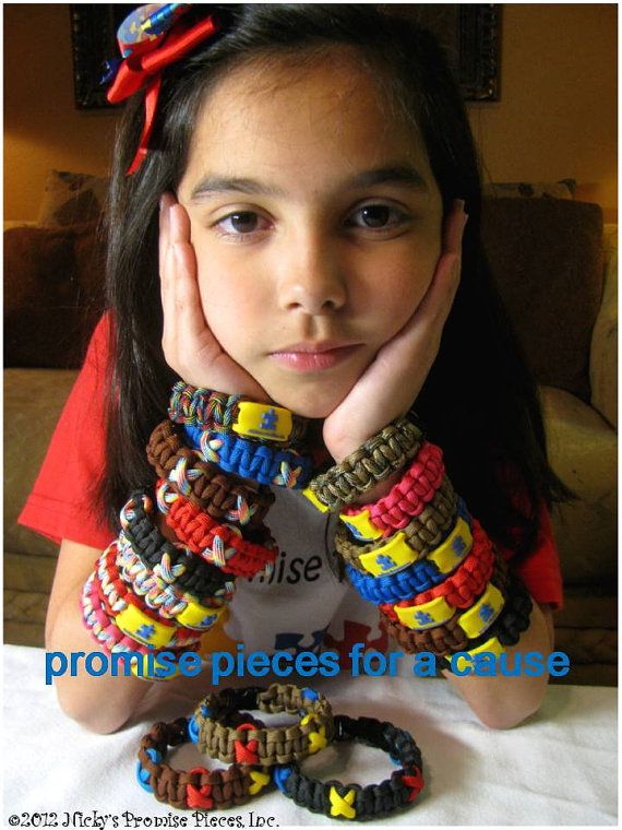 Autism Cobra Survival Bracelet by NickysPromisePieces on Etsy, $10.00