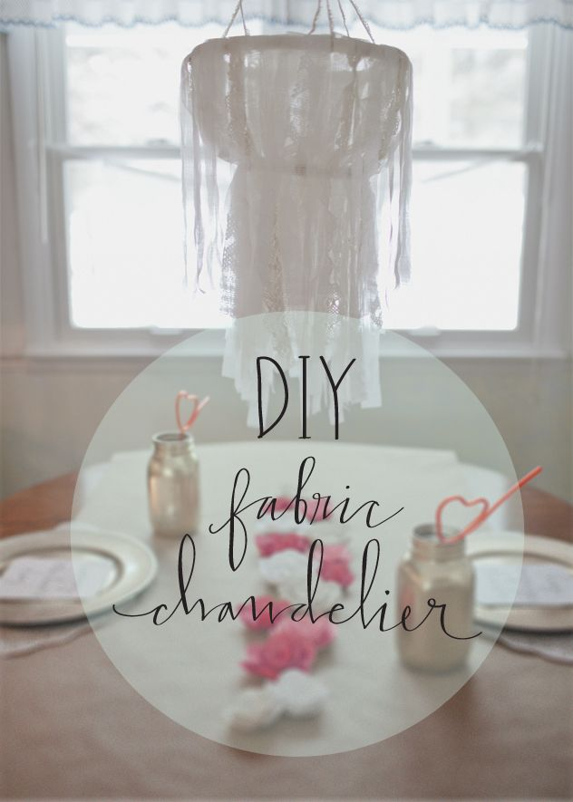 inspired by lovely | a collection of home, craft and design inspiration | Juliet Jones: DIY fabric chandelier.