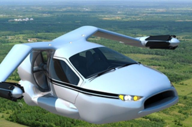 The Terrafugia TF-X flies and drives, but it's not really a flying car. Read more at http://www.iflscience.com/technology/are-flying-cars-finally-becoming-reality#H3FvE2Uk6ehUv9kU.99