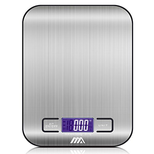 Digital Kitchen Scale / Food Scale - Ultra Slim, Multifunction, 11lb 5kg, Easy to Clean, Stainless steel